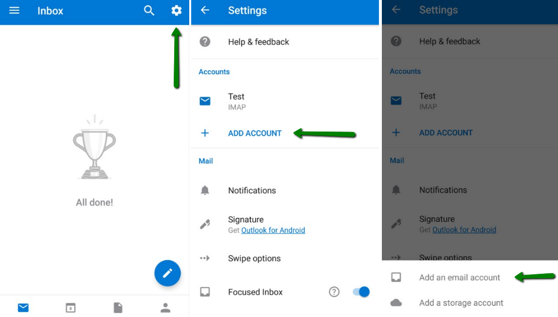 cPanel email account setup in Outlook for Android - Email