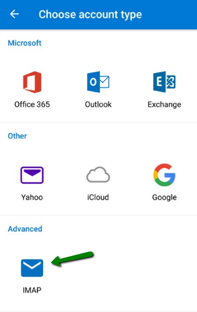 cPanel email account setup in Outlook for Android - Email service
