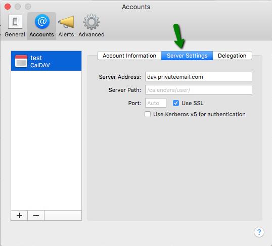 How to configure Caldav/Carddav on MacOS - Email service