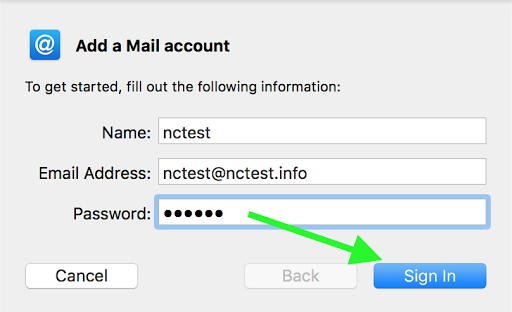 cPanel email account setup in Mail on macOS Sierra/Mojave (SMTP/POP3)