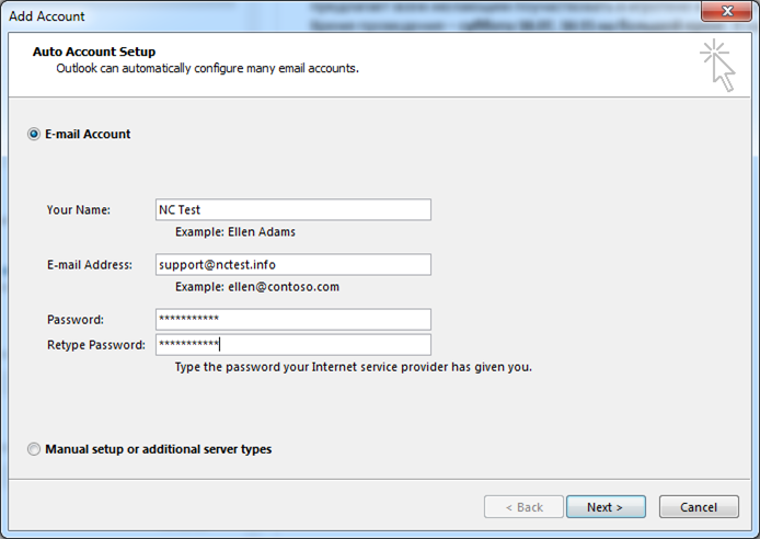 Private Email account setup in Outlook 2016 - Email service