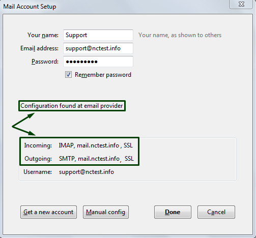 cPanel email account setup in Thunderbird - Email service