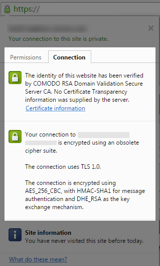 How to check whether the server supports Forward Secrecy?