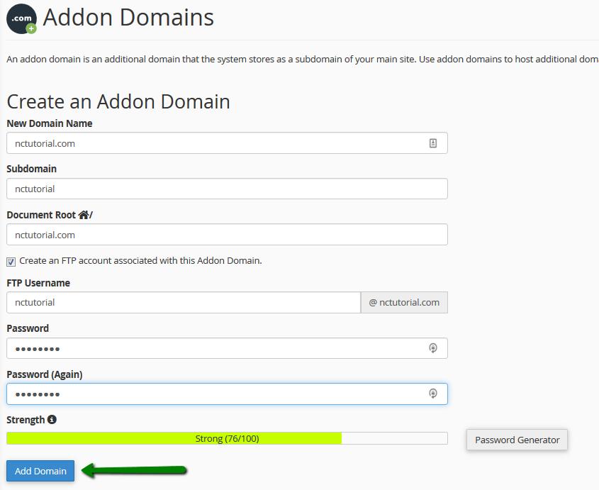 How to Create Addon Domain - cPanel Addon Domain - Namecheap
