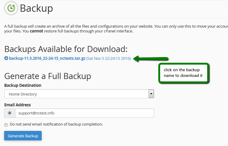 How to create and restore backups in cPanel - Hosting - Namecheap com