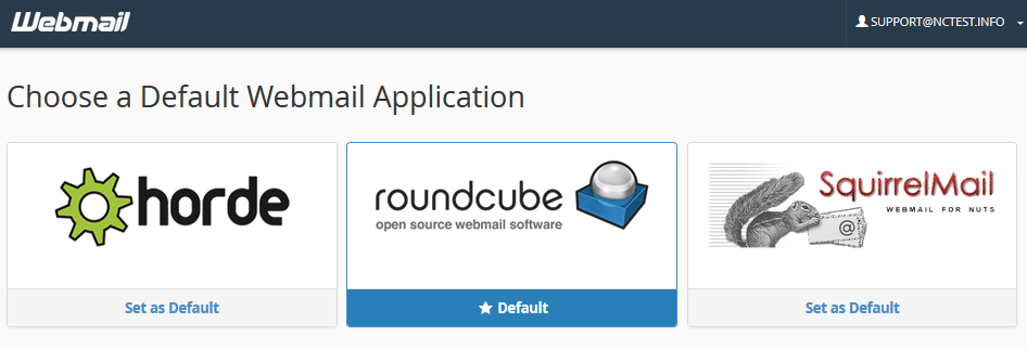 How to set up cPanel webmail to go directly to Horde or RoundCube