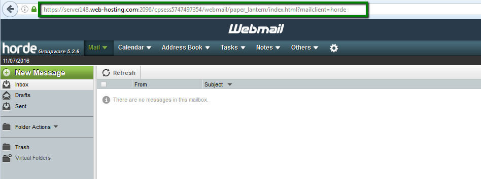 How to set up cPanel webmail to go directly to Horde or