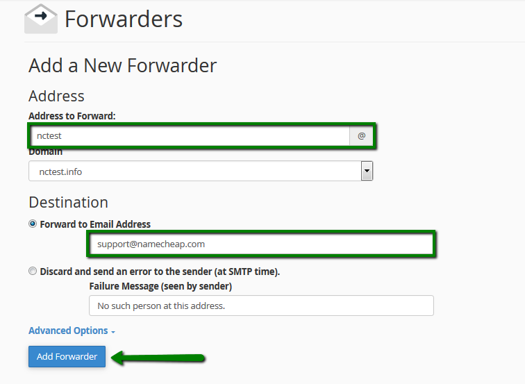 How to set up email forwarding in cPanel - Email service