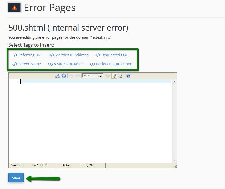 How to add custom error pages - Hosting - Namecheap com