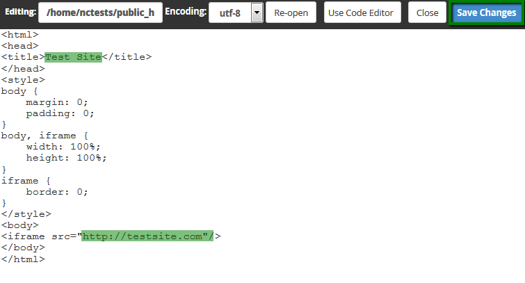 How to set up URL Frame in cPanel - Hosting - Namecheap com