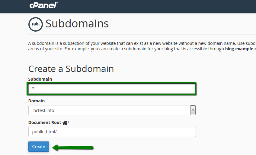 How To Create A Wildcard Subdomain In Cpanel Hosting Namecheap