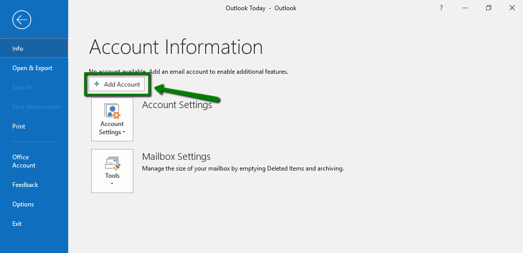 Private Email account setup in Outlook 2019 - Email service - Namecheap.com
