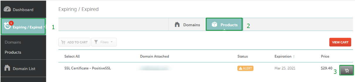 How Do I Renew An Ssl Certificate Checkout Billing Namecheap