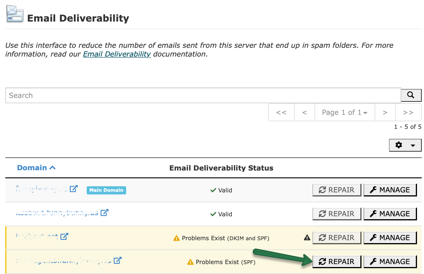 cPanel Email Deliverability Tool – SPF and DKIM Records - Email service