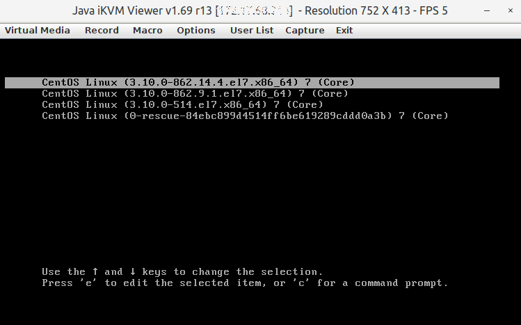 Resetting Dedicated server root password via Virtual Console - Hosting