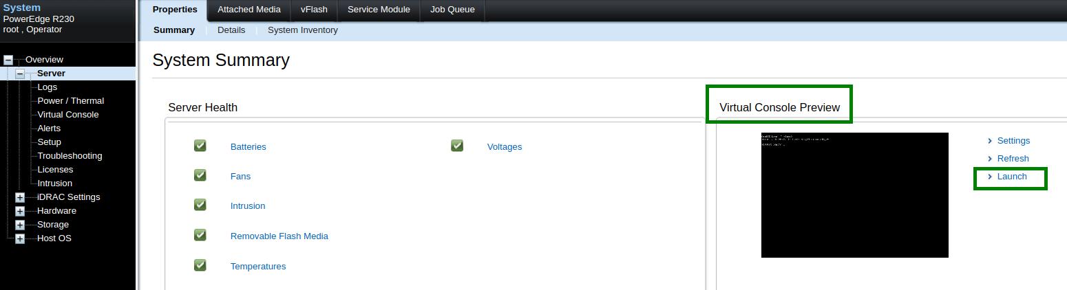 Resetting Dedicated server root password via Virtual Console