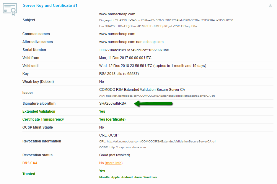 How Do I Get A Rating In Ssllabs Ssl Certificates Namecheap