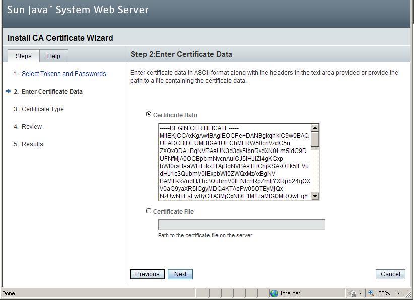 Installing A Ssl Certificate On Sun Java System Web Server 7x Hosting