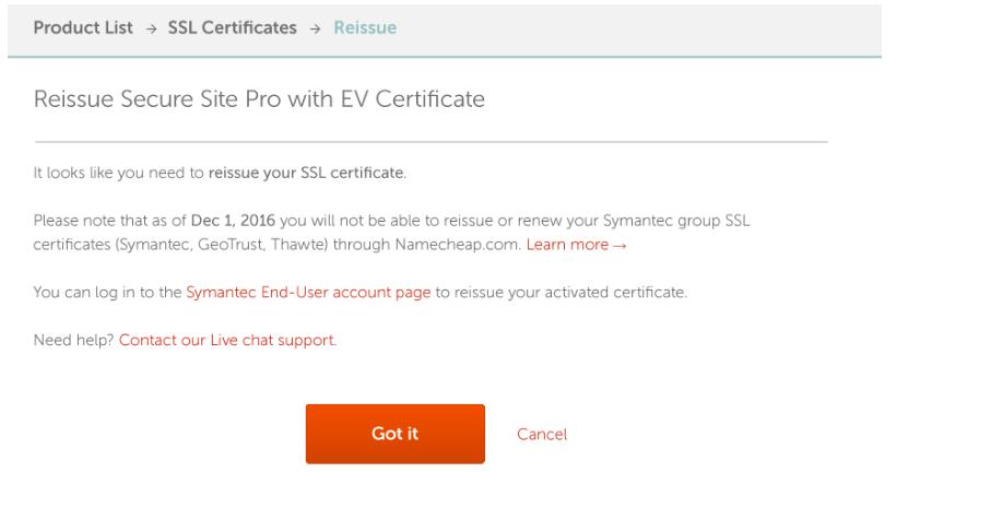 Symantec Sunset Tutorials - SSL Certificates - Namecheap com