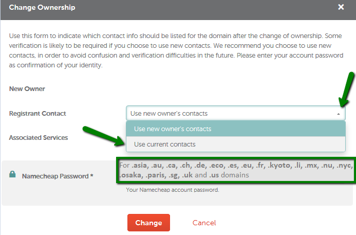 How can I move a domain from one Namecheap account to another?
