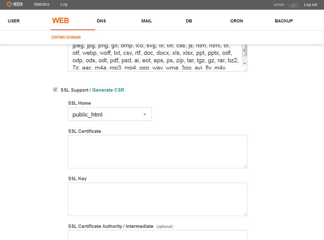 Installing a ssl certificate in vesta cp namecheap vestainstall01 xflitez Images
