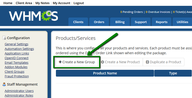 How to manage hosting-related services in WHMCS - Hosting