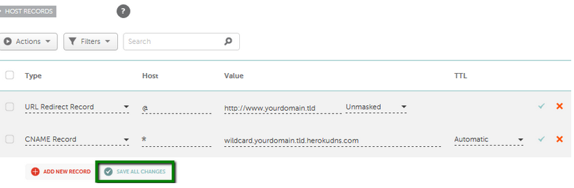 Pointing a domain to the Heroku app - Domains - Namecheap com