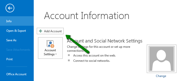 how to make email address appear in outlook