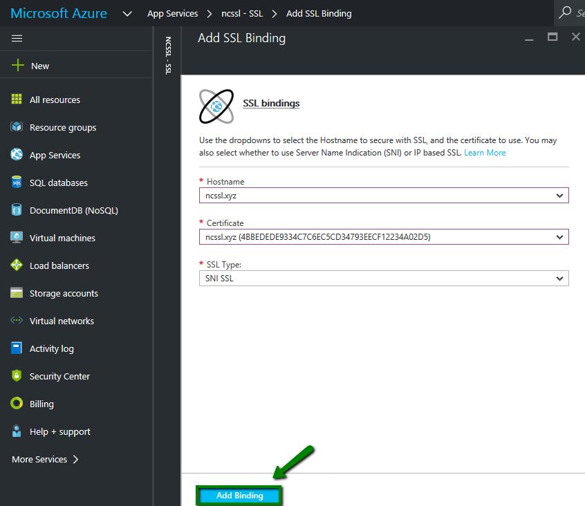 Installing An SSL Certificate On Microsoft Azure Web App