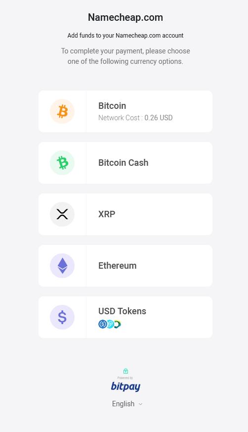 namecheap bitcoin