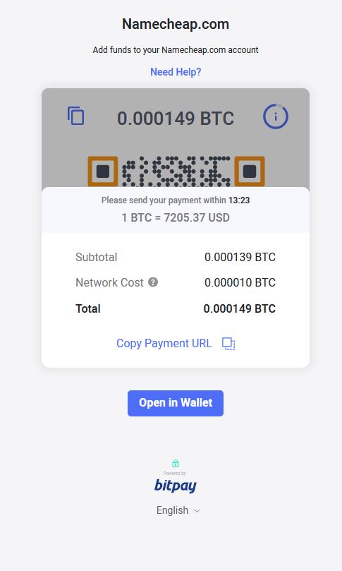 namecheap bitcoin)