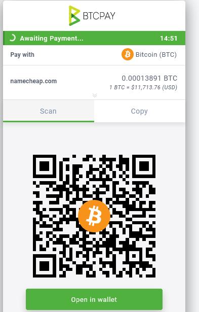 🥇 A Namecheap új Bitcoin fizetési lehetőséget ad és ingyenes képzést kínál - 【Az összehasonlítás】