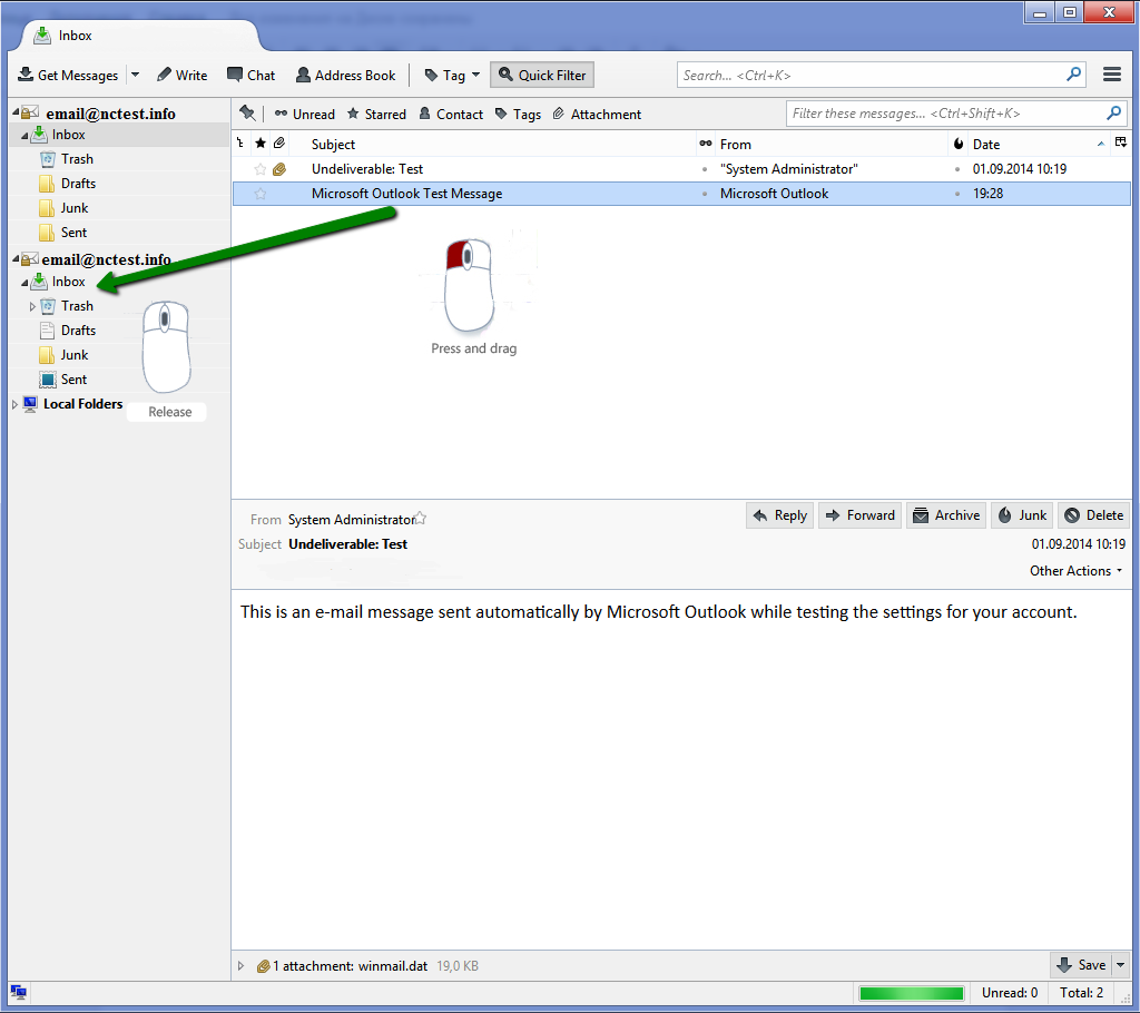 how to add new email to thunderbird
