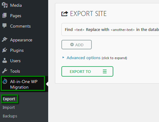 export transfer easywp