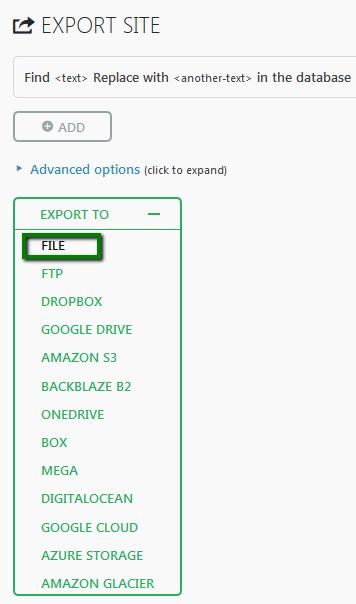 export website