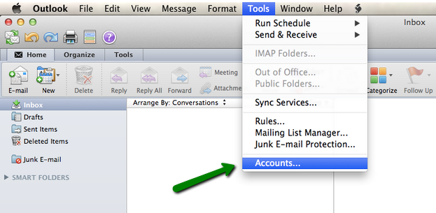 how to set up email in outlook on mac