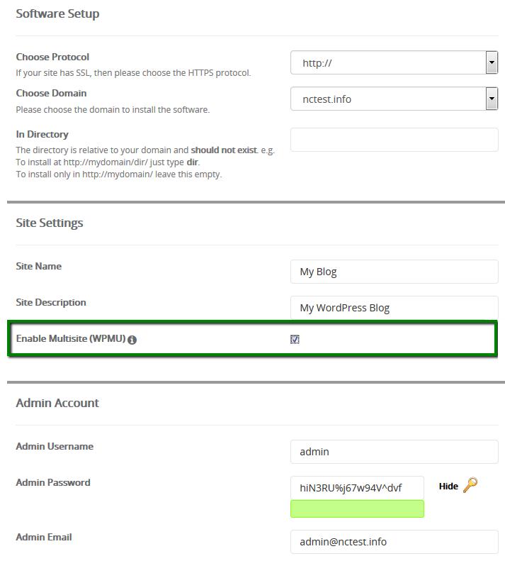 how to set up enom domain on wordpress
