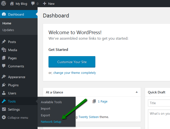 how to use and setup a subdomain in wordpress